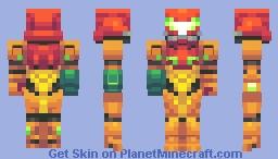 Samus Aran Minecraft Skin