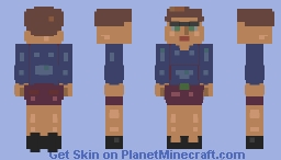 I enter a contest I can't win :3 Man dressed up as a retro gal - Happy Halloween! And ofc it's better in 3D ;3 Minecraft Skin