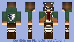 Male Mikasa Minecraft Skin