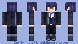 Rentaro Satomi - Black Bullet (added Varanium Version! :D) Minecraft Skin