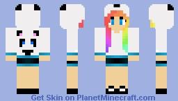 Rainbow Panda Girl - REDO