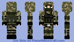 Woodland Reconnaissance Soldier Minecraft