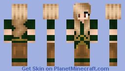 Blonde Earthbender Girl Minecraft Skin
