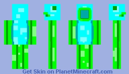 Fish Man - Flaeon's Green and Cyan Palette Skin Contest Minecraft