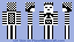 Black n' White . Minecraft Skin