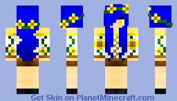 ς∴♣♥〈 juliatiger19 〉♥♣∴ς Requested by sunny_flower Sunflower Girl 1.8 Minecraft Skin