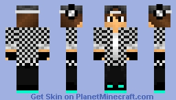Cool Dude With Hat (black/white) Minecraft Skin