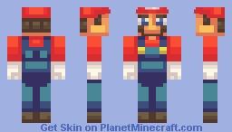 SSB4 | Mario Minecraft Skin