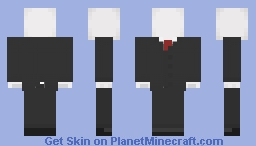 """The Slenderman"" Minecraft Skin"