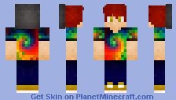 Cool Tye Die Boy! Minecraft Skin
