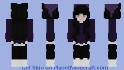 purple sweater and white layered shirt Minecraft Skin