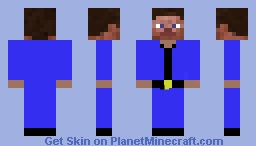 Jacket which is Blue. With Steve. Minecraft Skin