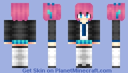 Anime School Girl Minecraft Skin