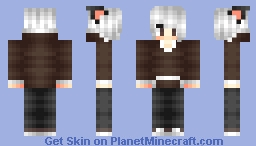 My Genderbent OC Chocolate Eyes Minecraft Skin