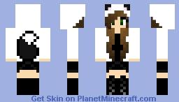 Black Wolf Girl Minecraft Skin