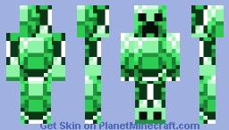Emerald creeper Minecraft Skin