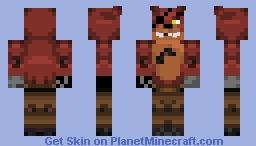 Foxy (Fnaf) Minecraft Skin