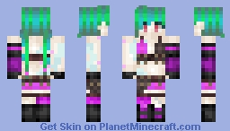 You'll be Jinxed (Jinx From LoL) Minecraft Skin