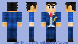 Phoenix Wright  - Ace Attorney: Dual Destinies (Alternates Included) Minecraft Skin