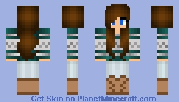 Cute Brunette Girl Minecraft Skin