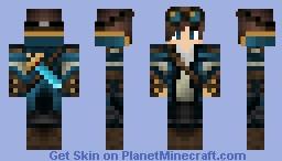 Diamond Miner w/ Goggles Minecraft Skin