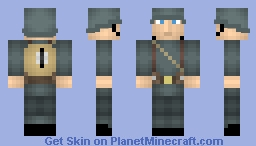 WWI German Schütze (Gasmask in Description) Minecraft Skin