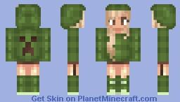 creeper girl .3. (so original rene) Minecraft Skin