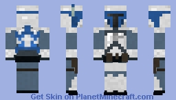 Jango Fett, Star Wars episode II, Attack of the Clones Minecraft Skin