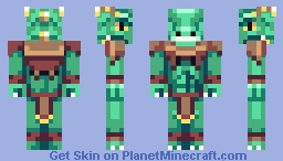 Lizard Warrior Minecraft Skin