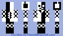 black and white lola Minecraft Skin
