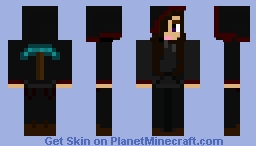 The Girl with the Diamond Pick Hoodie... Minecraft