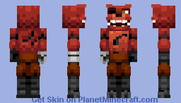 FNAF - Foxy the pirate Fox (Dismantled in desc.) Minecraft Skin
