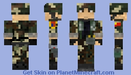 ✩ Peoples Liberation Army Soldier (PLA) [中國人民解放軍] Minecraft Skin