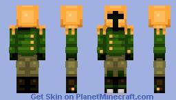 Shovel Knight: Propeller Knight (Sprite version in desc.) Minecraft Skin