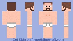 Naked hobo Minecraft Skin