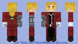 Fullmetal Alchemist: Edward Elric (Better in 3D) Minecraft Skin