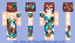 Peacock Dress Minecraft Skin