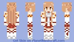 Asuna Yuuki 1.8 (Unshaded!) Minecraft Skin