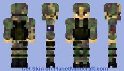 Korean People's Army 조선인민군 Minecraft Skin