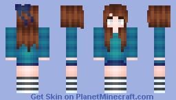 ƒℓσωєяƒℓσ | Herobrine Girl | Reshaded Minecraft Skin