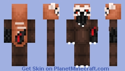 Ronnie the Red Panda - Skeleton's Custom Animatronic Contest Minecraft Skin