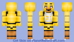 Chica - 1.8 revision (Better in 3D (Five Nights At Freddy's)) Minecraft Skin