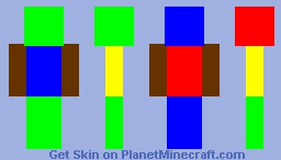 Rainbow Man Minecraft Skin