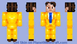why does the man wear a yellow suit? Minecraft Skin