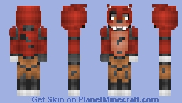 Foxy - 1.8 revision (Much better in 3d(Five Nights At Freddy's)) Minecraft Skin
