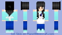 Girl Artist Shaded Minecraft Skin