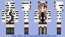 Snow Tiger Girl Minecraft Skin