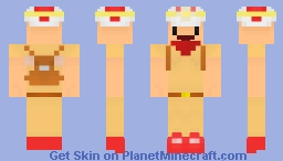 Captain Toad and Toadette! (Check desc.) Minecraft Skin