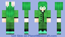 Amelia My OC Emerald (what an original name lol) Minecraft Skin