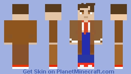 Doctor Who: The Tenth Doctor (David Tennant) Minecraft Skin